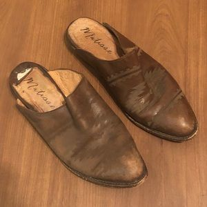RARE Matisse leather western mules size 11